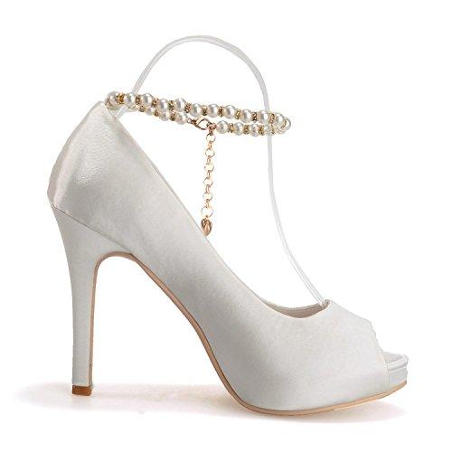 L Shoes High Silk Heels Novelty Women Blue Skirt 05 Wedding Toe YC Silk Casual 6041 Peep wPwq4gr