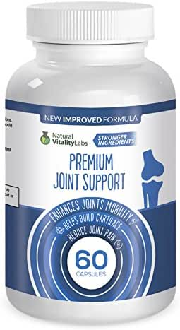 Premium Joint Support 60 Capsules with Stronger Natural Ingredients. New Improved Formula Packed with Vitamins, Minerals, Herbs. Enhances Mobility, Cartilage, Less Pain - Made in USA