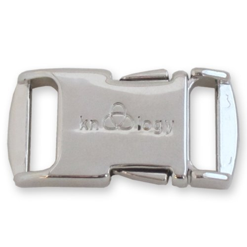 Knottology 1/2 Inch Spring Assisted Full Metal Nito Buckles (Silver)