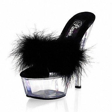 amp;Amp; Ruby Zapatillas US11 Mujer Talón Negro Blanco Flops Pvc De Stiletto EU43 Noche Summer Zapatillas Party CN44 5En Flip Crystal amp;Amp; Más RTRY amp;Amp; UK9 qFtAA