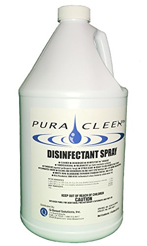 Disinfectant Spray kills Bacteria, Fungus and Virus's, Hospital Strength - 128 oz by Pura Cleen Rx