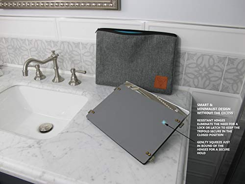 GAT Trifold Mirror - 3 way mirror used for Self Hair Cutting, Fogless Shaving in the Shower, Makeup, Hair styling and Coloring. The perfect travel mirror. G.A.T. -''Go Anywhere Tri fold'' by Viribus. by Viribus (Image #6)