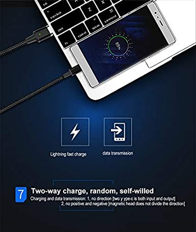 Color : T5 YOZOOE Nylon Braided Two-Mode Magnetic Charging /& Data Transfer Cable Compatible with Phones and Tablets