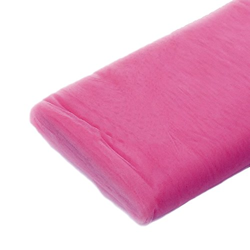 Hot Pink Sheer Tulle Decorating Material 54in X 100ft by Party Favors Plus