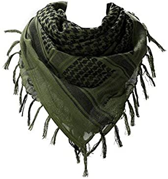 100% Cotton Military Shemagh Arab Tactical Desert Keffiyeh Thickened Scarf...