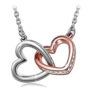 ♥My Destiny♥ White Gold Plated Heart Necklace with Swarovski Crystals 19
