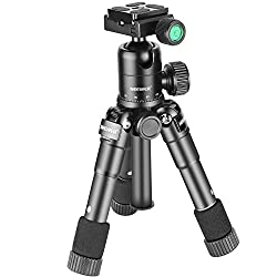 Neewer 20 Inches50 Centimeters Portable Compact Desktop Macro Mini Tripod With 360 Degree Ball Head,14 Inches Quick Release Plate, Bag For Dslr Camera, Video Camcorder Up To 11 Pounds5 Kilograms