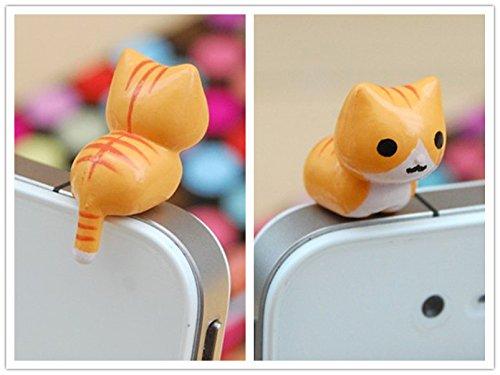 9 Styles Adorable Miniature 3d Kitten Cat Animal Smart Phone Smartphone Plug Earphone Jack Plug Charm Decoration Universal 3.5mm Ear Cap Iphone 4 4s 5 Ipod Ipad HTC Samsung Accessories Friendship Couple Lover Gift (style 6) (Earphone Jack Plug Cat)