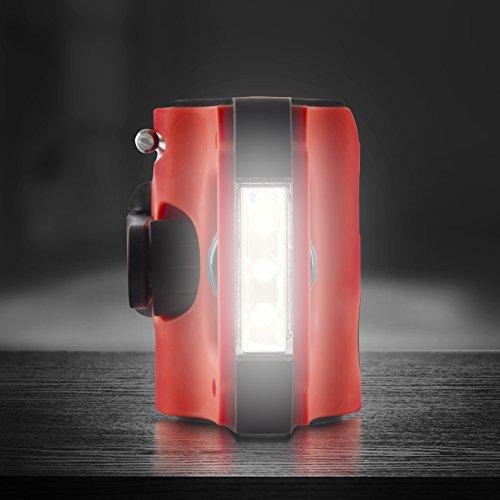 Duronic RL123 LED Öko Laterne / Taschenlampe, wiederaufladbar
