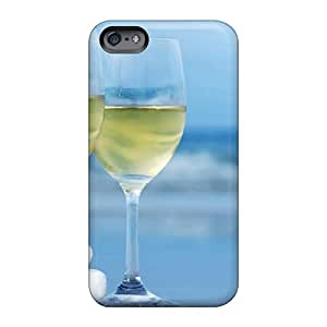 Iphonecase88 Apple Iphone 6s Durable Hard Phone Cases Customized Vivid White Wine Glasses Pictures [uVI2710ZafB]
