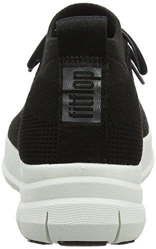 Fitflop on Femme Uberknit 001 Baskets Noir black Sneaker Slip High Top Hautes ZxFZnBw