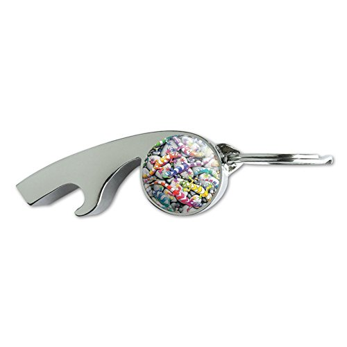 - Rainbow Colorful Geckos Lizards Chrome Plated Metal Whistle Bottle Opener Keychain Key Ring