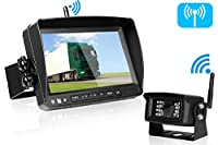 Emmako Digital Wireless Backup Camera and 7'' Monitor System Kit No Interference For RV/Truck/5th Wheel/Trailer/Camper IP69K Waterproof Rear/Side/Front Facing View Constantly/Reverse Use Optional