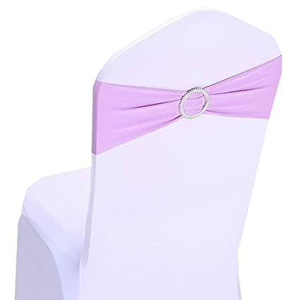 Surprising Fvstar 20Pcs Lavender Wedding Chair Sashes Bows Spandex Chair Cover Ties Party Chair Ribbons For Baby Shower Birthday Banquet Valentines Event Gmtry Best Dining Table And Chair Ideas Images Gmtryco