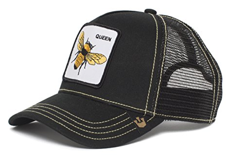 Goorin Bros. Men's Queen Bee Animal Farm Trucker Cap, Black, One Size