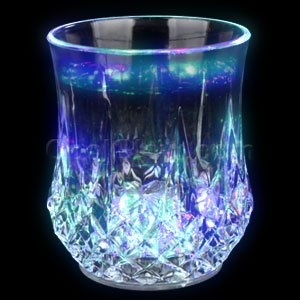 Fun Central AC998 LED 7oz Crystal Faceted Glass - Multicolor