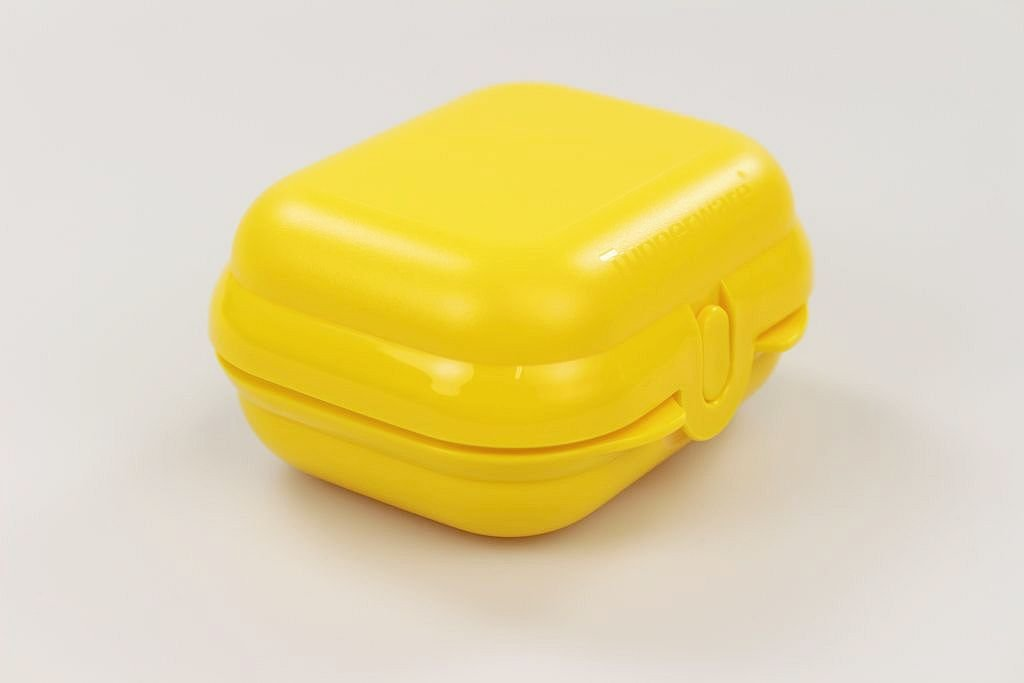 TUPPERWARE Mini Caja Cofre amarillo