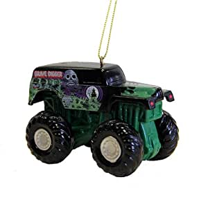"3.5"" Monster Jam Monster Grave Digger Truck Christmas Ornament"