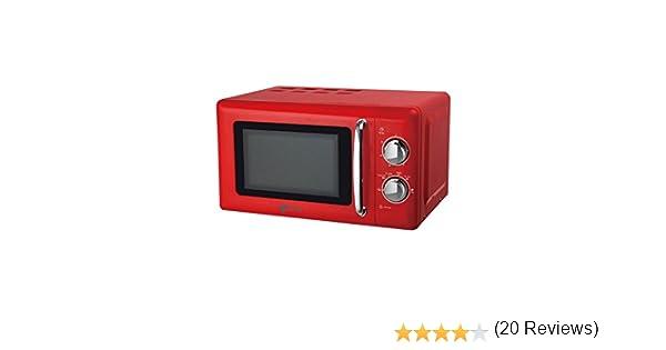 Artrom MM-720RML - Microondas retro, 700 W, color rojo: Amazon.es ...