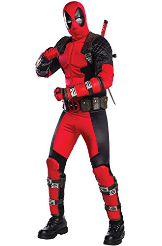 Rubie's Men's Deadpool Grand Heritage Costume, Red, Extra-Large