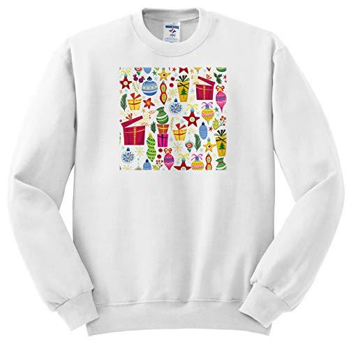 Anne Marie Baugh - Christmas - Cute Fiesta and Ornaments Pattern - Sweatshirts - Youth Sweatshirt Med(10-12) (ss_289301_11)
