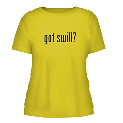 got swill? - A Nice Misses Cut Women's Short Sleeve T-Shirt, Yellow, Large