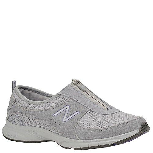 New Balance Women's WW565 Everlight Zip Walking Shoe,Grey/Purple,7 B US
