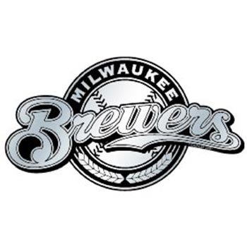 MLB Milwaukee Brewers Chrome Automobile Emblem