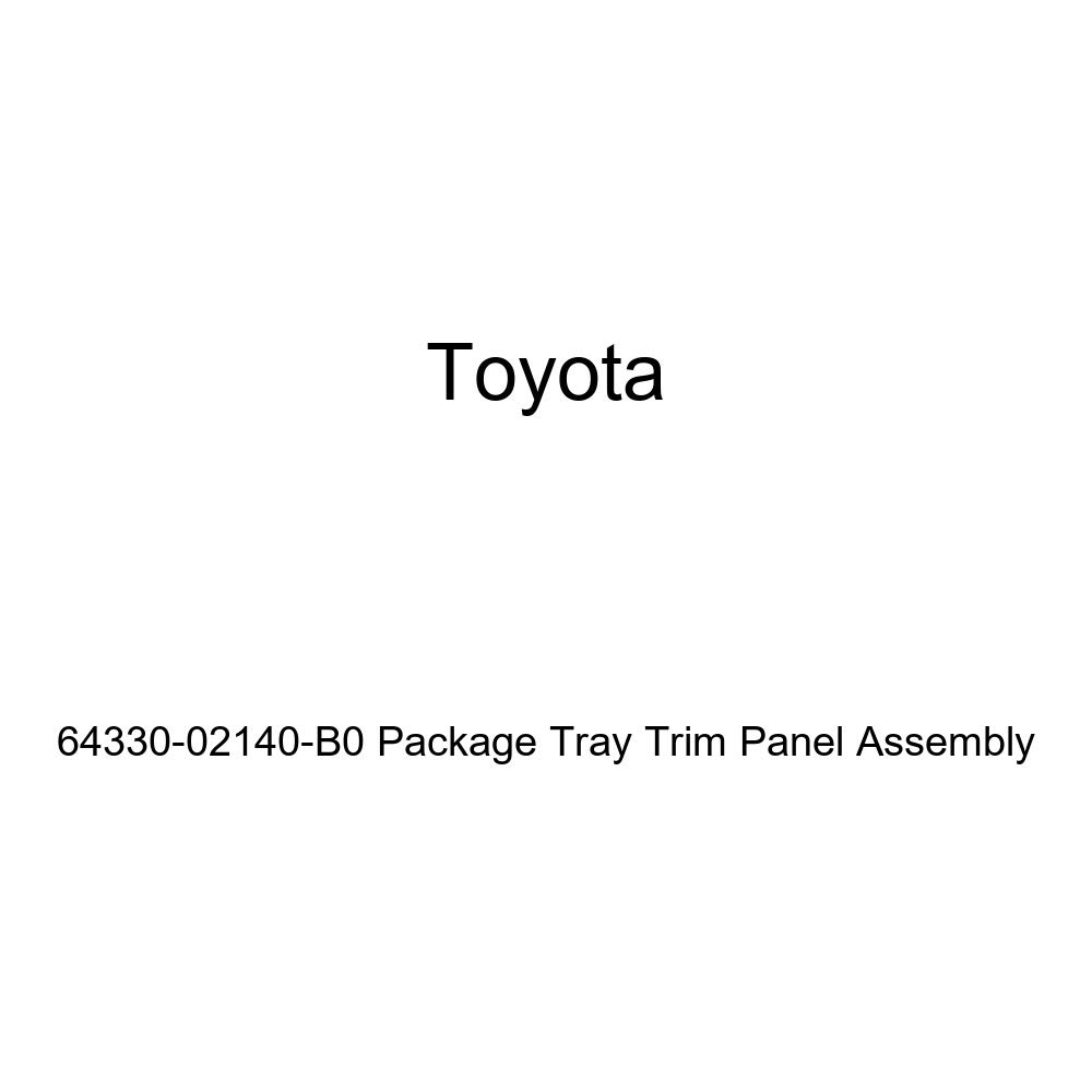 TOYOTA Genuine 64330-02140-B0 Package Tray Trim Panel Assembly