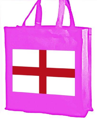 Bandiera inglese, Cotone Borsa della spesa Pink