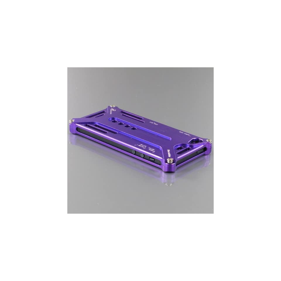 ZuGadgets Purple iPhone 5 5G Frog Design Aluminum Metal Protective Skin Case Cover Shell(4254 1) Cell Phones & Accessories