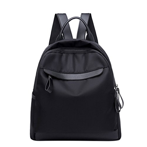 Nylon Small Purse Shoresu Black Backpack Waterproof Daypack for Fashion Women Girls 6FwPnq5
