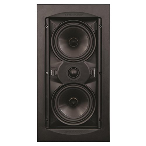 "SpeakerCraft Profile AIM LCR One Dual 5-1/4"" In-Wall Speaker (Each) Black ASM54611"