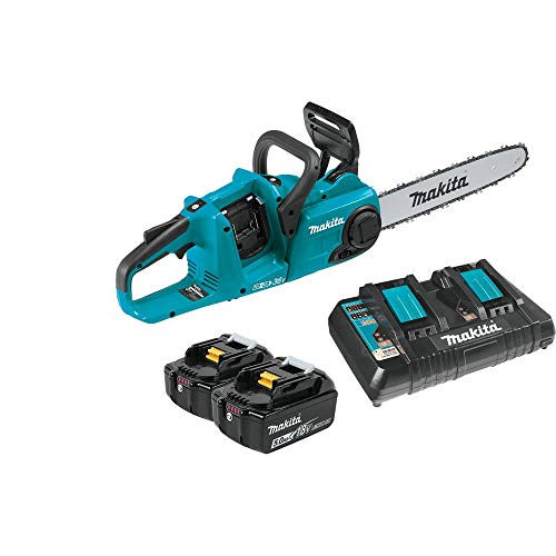 Makita XCU03PT-R 18V X2 LXT 5.0 Ah Brushless 14 in. Chainsaw Kit (Renewed)