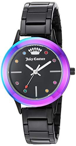 Juicy Couture Black Label Women's  Multicolor Swarovski Crystal accented Black Bracelet Watch