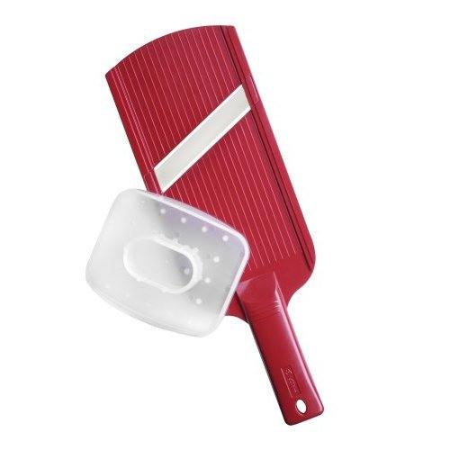 Kyocera Double Edged Mandolin Slicer, Red