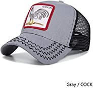 JKYJYJ Baseball Cap Fashion Cock Caps Women Men's Baseball Cap Summer Mesh Snapback Hat Unisex Breathable
