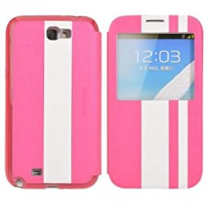 Stripe Pattern Flip Leather Case for Samsung Galaxy Note 2 N7100
