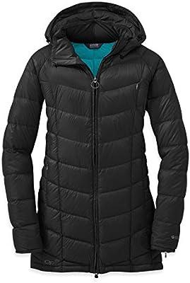 Outdoor Research abrigo de plumas para mujer women s Sonata Parka, otoño/ invierno, mujer, color black/rio, tamaño extra-small