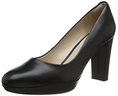 Clarks Women's Kendra Sienna Closed-Toe Pumps Black (Black Leather) rxbmDNb