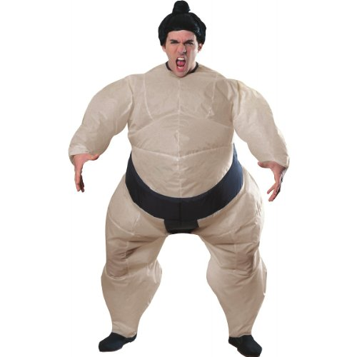 Inflatable Sumo Wrestler Costume - Standard - Chest Size 46 (Mens Inflatable Sumo Costume)