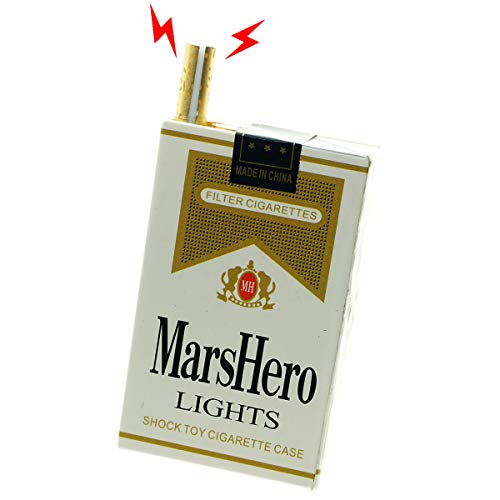 Cooplay Electric Shocking Fake Cigarettes Box Cigaredo Case Prank Toy Joke Papieros Funny Gadget Shock Tricky Gag Veigar for Fools Day Halloween - Toy Shock