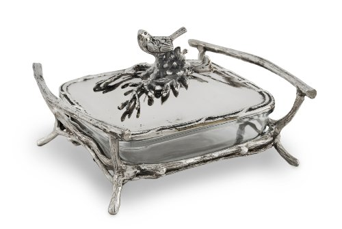 Star Home Bird and Branches Square Baker/Server with Lid
