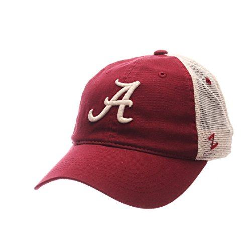 Zephyr NCAA Alabama Crimson Tide Men's University Relaxed Cap, Adjustable Size, Team Color/Stone (Cap Alabama)