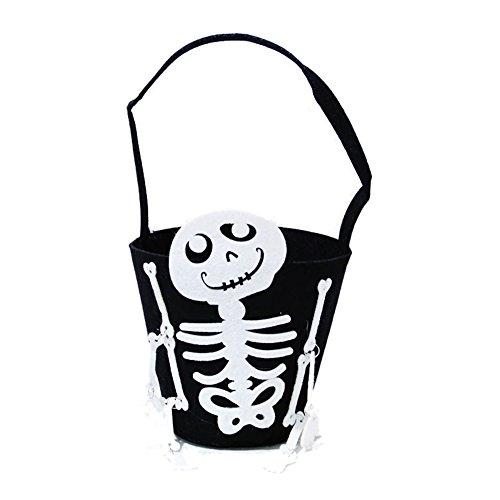 Toponechoice Children Pumpkin Skeleton Bat Halloween Trick or Treat Bag (D-6002)