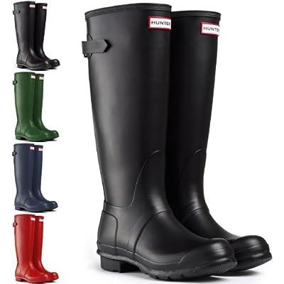 Womens Hunter Original Adjustable Back Wellington Winter Festival Boots