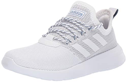 adidas Women's Lite Racer Reborn, White/raw Grey, 5.5 M US