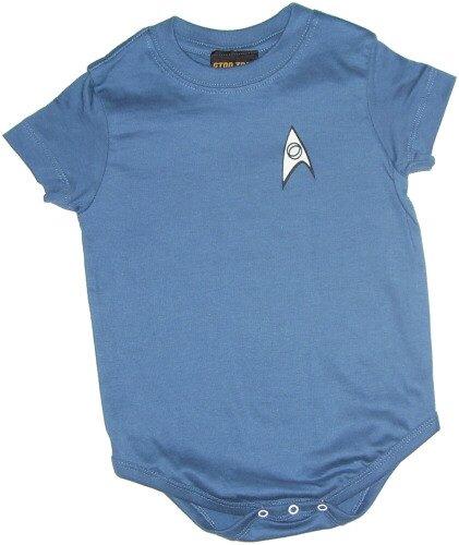Star Trek Science Blue Uniform Infant One-Piece Snapsuit, 6 Months ()