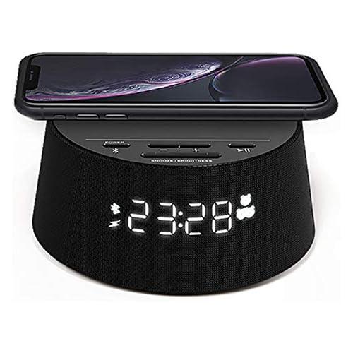 chollos oferta descuentos barato Philips Reloj Despertador Digital PR702 12 con Cargador inalámbrico Cargador inalámbrico Temporizador de Reposo Alarma Negro