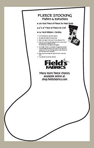 Fleece Stocking Christmas Stockings Pattern & Instructions for Fleece Prints and Solids Sewing Pattern (Pattern Only)